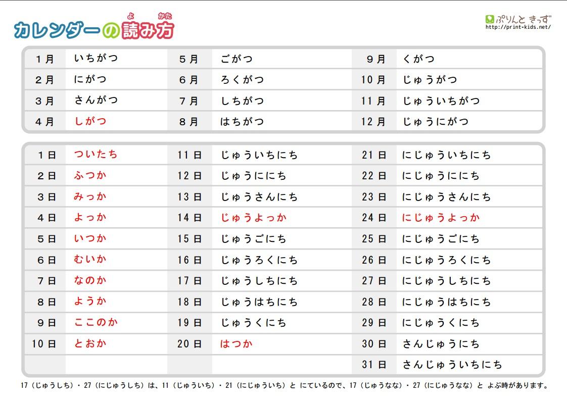 Japanese Calendar Year : How to read a calendar in japanese hiragana mama